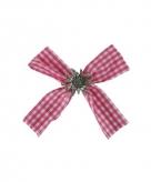 Haarstrikje met clip bayern roze