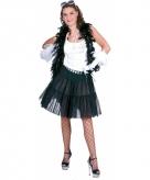 Halflange zwarte petticoat