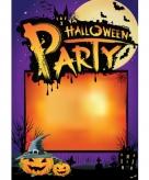 Halloween aankondiging poster