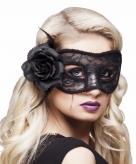Halloween oogmasker met roos voor dames