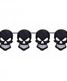 Halloween schedel slinger zwart 6 meter
