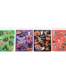 Halloween thema raamdecoratie stickers paars