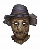 Halloween vogelverschrikker masker 32 x 37 cm