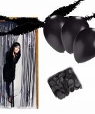 Halloween zwarte versiering pakket