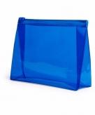 Handbagage toilettas blauw 17 cm