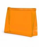 Handbagage toilettas oranje 17 cm