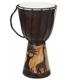 Handgemaakte houten drum giraffe 40 cm
