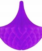 Hangdecoratie kroonluchters paars 35 cm