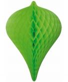 Hangdecoratie pegels groen 30 cm