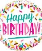 Happy birthday folieballon 45 cm met helium