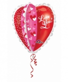 Hartjes folie ballon love you 76 cm