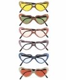 Hatvormige glitterbril