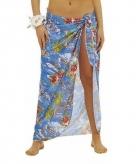Hawaii kostuum rok blauw voor dames