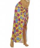 Hawaii kostuum rok geel voor dames