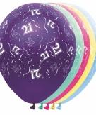Helium leeftijd ballon 21 jaar