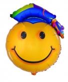Heliumballon geslaagd smiley 67 cm