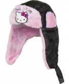 Hello kitty sherpamuts zwart met roze