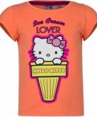 Hello kitty t-shirt oranje met korte mouw