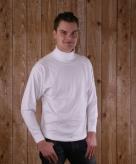 Heren col shirt lange mouw wit