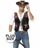 Heren cowboy vest grote maten