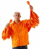 Heren rouche shirt oranje