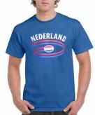 Heren shirt blauw nederland