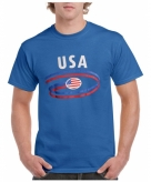 Heren shirt blauw usa