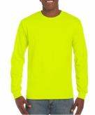 Heren shirt lange mouwen lichtgevend geel