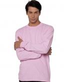 Heren shirt lange mouwen roze