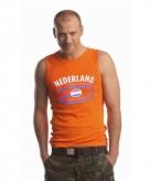 Heren singlet nederland in oranje