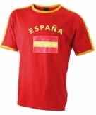 Heren t-shirt met de spaanse vlag 10033026