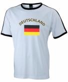 Heren t-shirt met duitse vlag