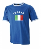 Heren t-shirt met italiaanse vlag
