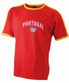 Heren t-shirt met portugal print