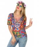 Hippie shirt verkleedoutfit voor dames