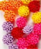 Hobby bloemen kralen 20 stuks