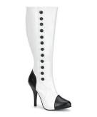 Hoge dames laarzen zwart met wit