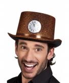 Hoge hoed koper met glitters