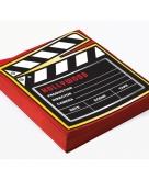 Hollywood thema servetten 16 stuks