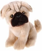 Honden knuffel mopshondje 20 cm