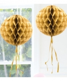 Honeycomb ballen goud 30 cm