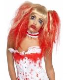 Horror damespruik met bloed