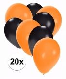 Horror versiering zwart en oranje ballonnen 20x
