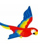 Houten hangdecoratie papegaai 56 cm