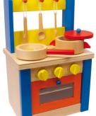 Houten keukentje voor kinderen 19 x 24 x 38 cm