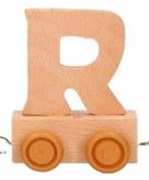 Houten letter treintje r