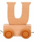 Houten letter treintje u