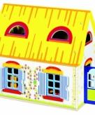 Houten speel poppenhuis 39 5 x 24 5 x 35 cm