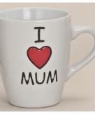 I love mum beker wit 10 cm