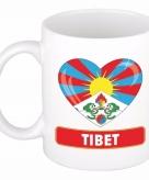 I love tibet mok beker 300 ml